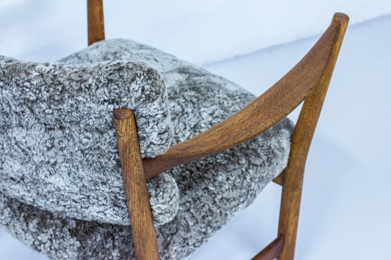 Pair of Easy Chairs with Sheepskin by Fredrik Kayser & Adolf Relling, Norway For Sale 2