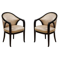Pair of Ebonized Chairs by Paul Follot