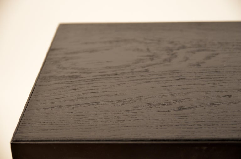 Pair of Ebonized Grooved Oak 'Esquisse' Side Tables by Design Frères For Sale 2