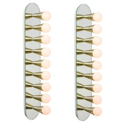 Pair of Echo Nine Sconces in Brass, from Souda