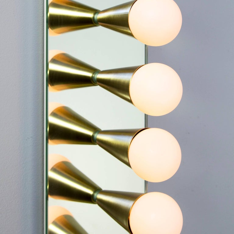 American Pair of Echo Six Sconces in Brass, from Souda, Made to Order For Sale