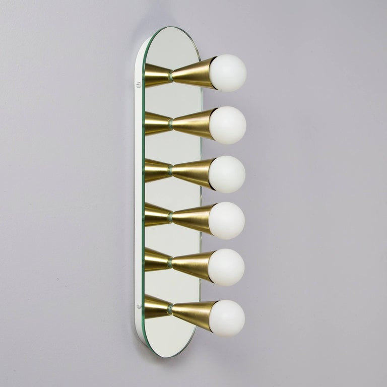 Metal Pair of Echo Six Sconces in Brass, from Souda, Made to Order For Sale