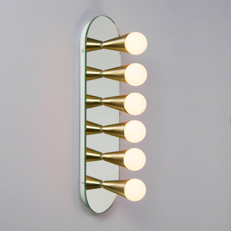 Pair of Echo Six Sconces in Brass, from Souda, Made to Order For Sale 1