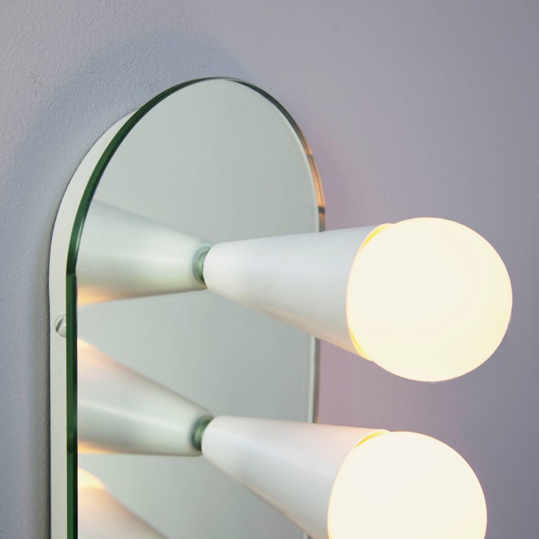 Metal Pair of Echo Six Sconces in White, from Souda For Sale