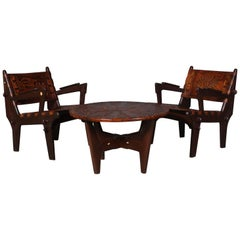 Pair of Ecuadorian Lounge Set by Angel Pazmino