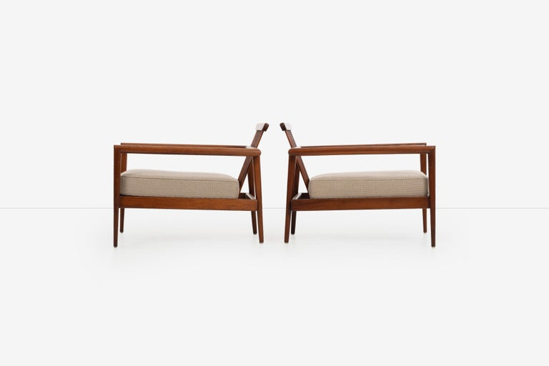 Mexican Pair of Edmond Spence Lounge Chairs
