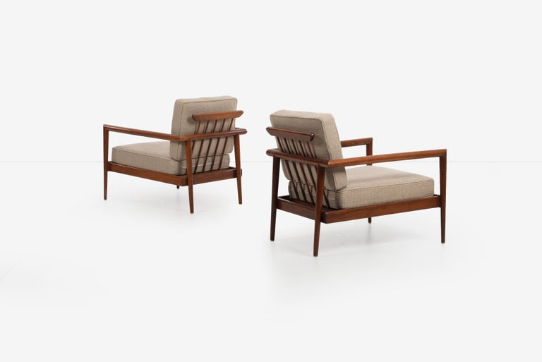 Mid-20th Century Pair of Edmond Spence Lounge Chairs