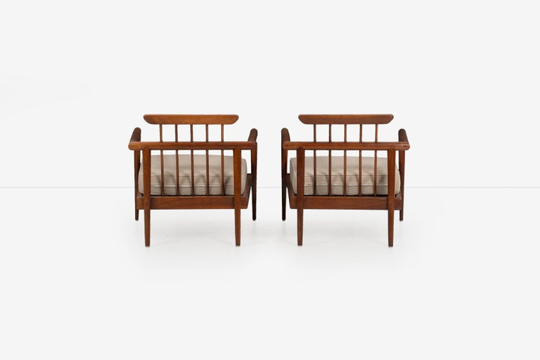 Upholstery Pair of Edmond Spence Lounge Chairs