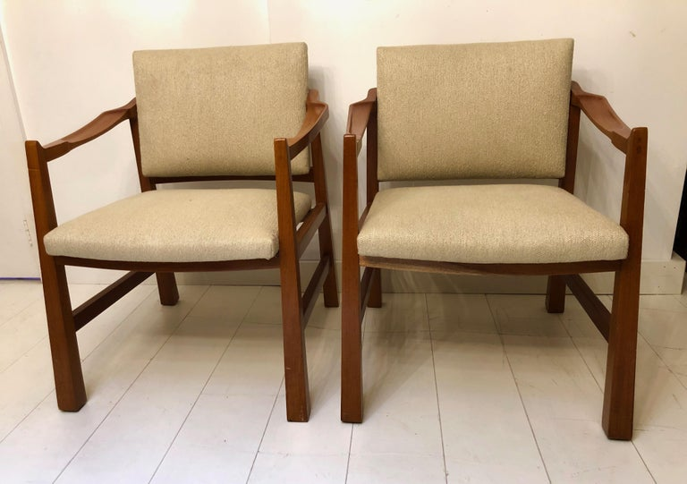 Pair of Edmond Spence Mahogany Mayan Chairs For Sale 5