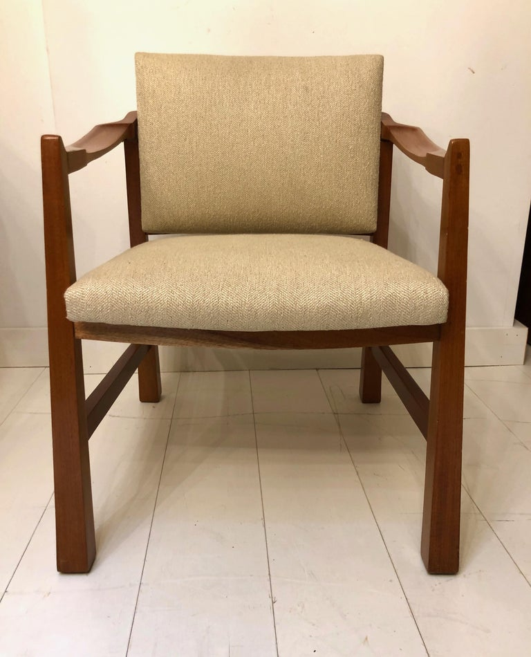 Mexican Pair of Edmond Spence Mahogany Mayan Chairs For Sale