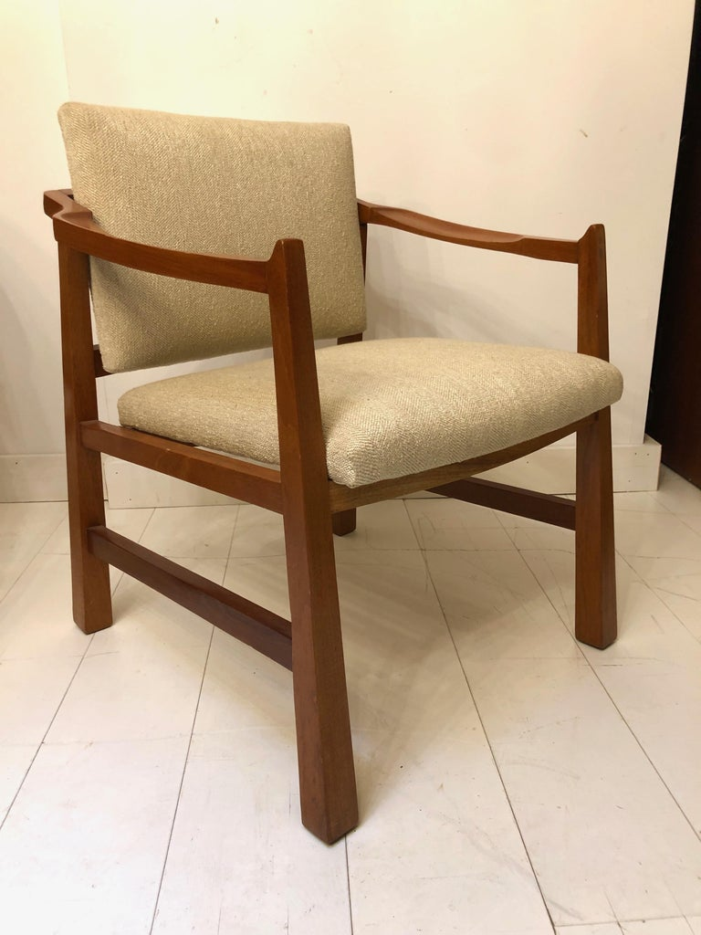 Pair of Edmond Spence Mahogany Mayan Chairs For Sale 1