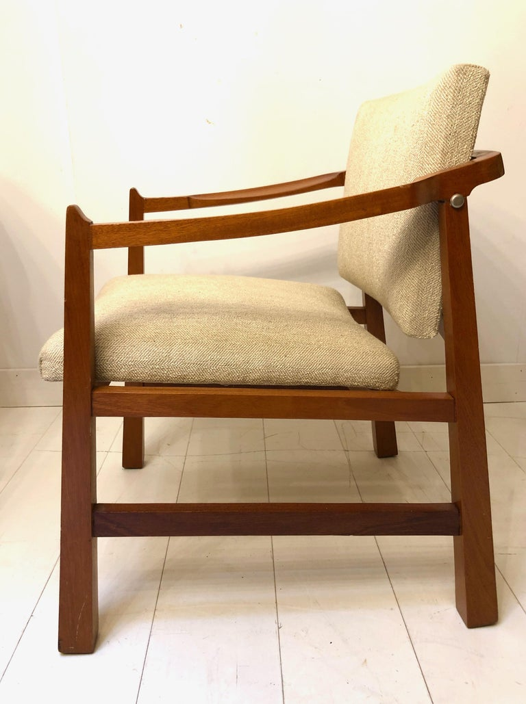 Pair of Edmond Spence Mahogany Mayan Chairs For Sale 4