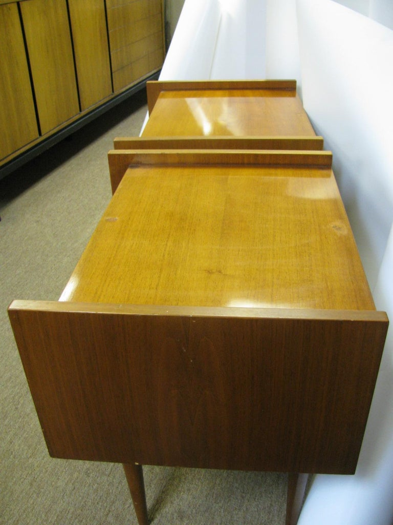 Pair of Edmond Spence Mid-Century Modern Night Tables, Made in Sweden For Sale 1