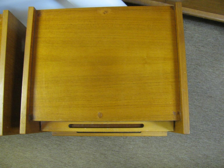 Pair of Edmond Spence Mid-Century Modern Night Tables, Made in Sweden For Sale 3