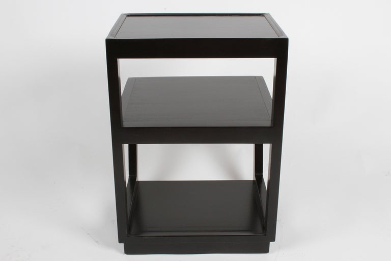 Pair of Edward Wormley 3-Tiered Tables, Precedent Collection in Dark Espresso For Sale 4