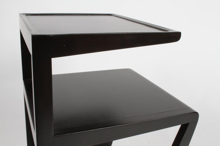 Pair of Edward Wormley 3-Tiered Tables, Precedent Collection in Dark Espresso For Sale 5