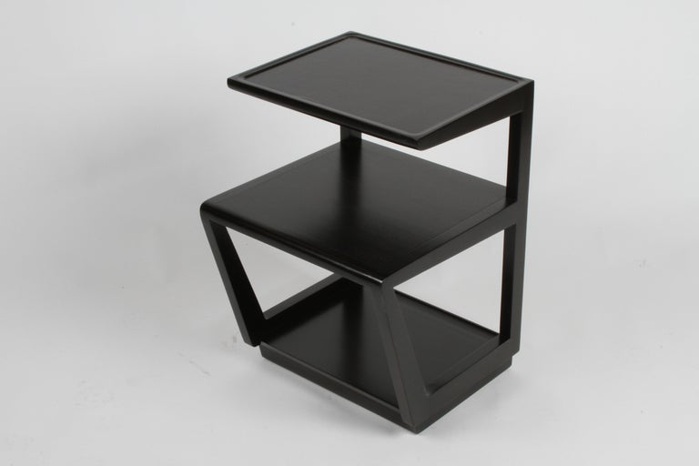 Mid-Century Modern Pair of Edward Wormley 3-Tiered Tables, Precedent Collection in Dark Espresso For Sale