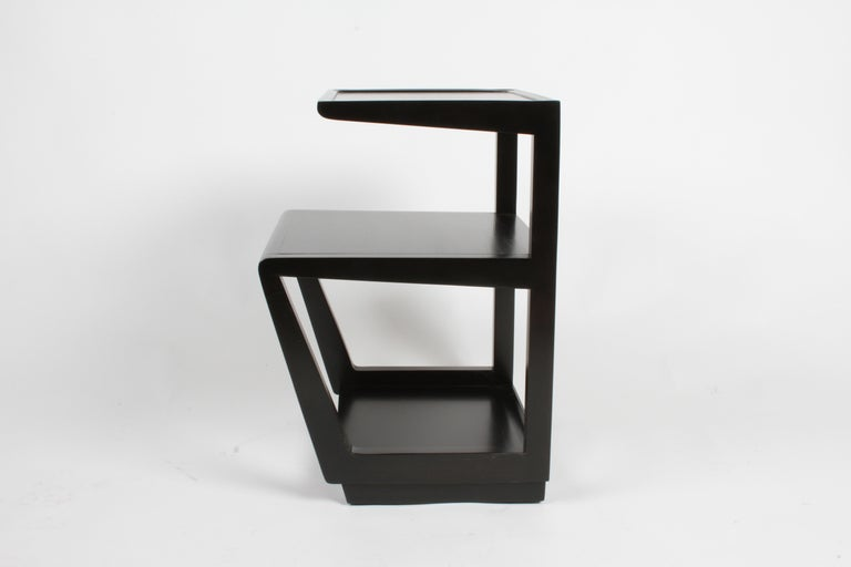 American Pair of Edward Wormley 3-Tiered Tables, Precedent Collection in Dark Espresso For Sale