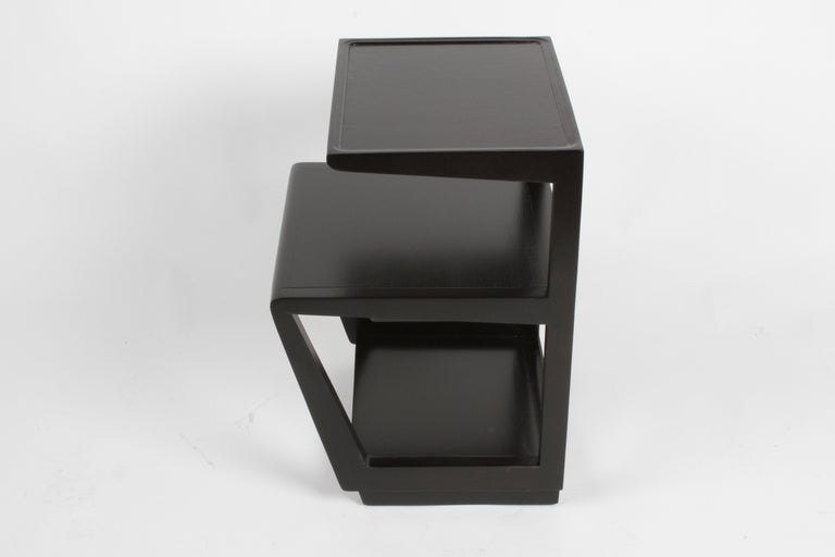 Pair of Edward Wormley 3-Tiered Tables, Precedent Collection in Dark Espresso In Good Condition For Sale In St. Louis, MO