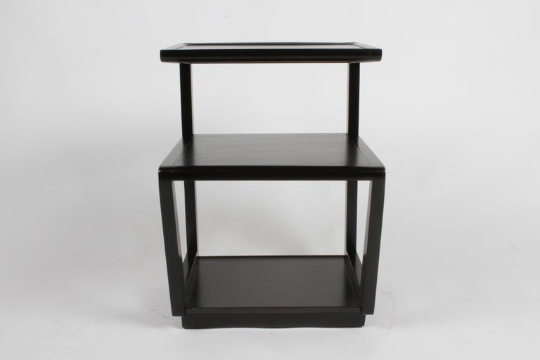 Mid-20th Century Pair of Edward Wormley 3-Tiered Tables, Precedent Collection in Dark Espresso For Sale