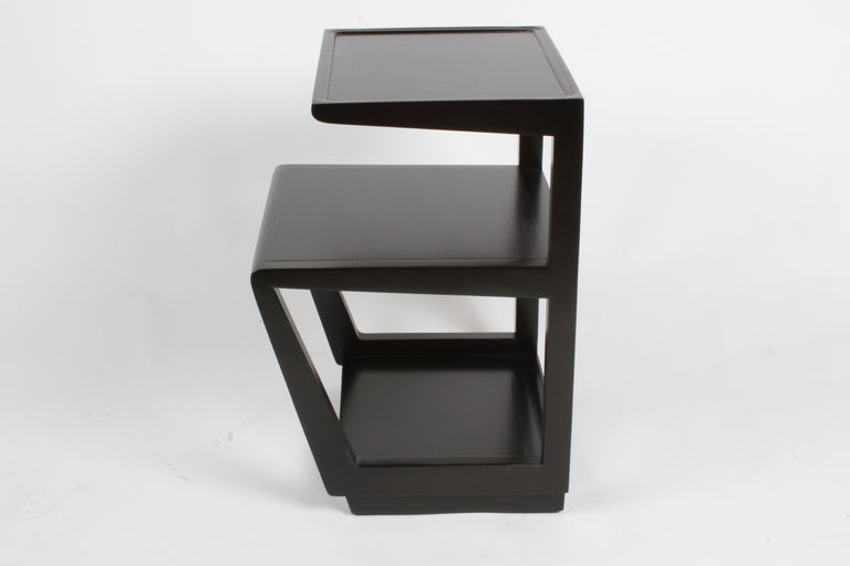 Elm Pair of Edward Wormley 3-Tiered Tables, Precedent Collection in Dark Espresso For Sale