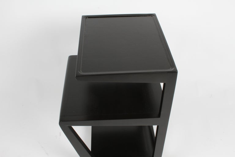 Pair of Edward Wormley 3-Tiered Tables, Precedent Collection in Dark Espresso For Sale 1