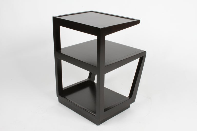 Pair of Edward Wormley 3-Tiered Tables, Precedent Collection in Dark Espresso For Sale 2