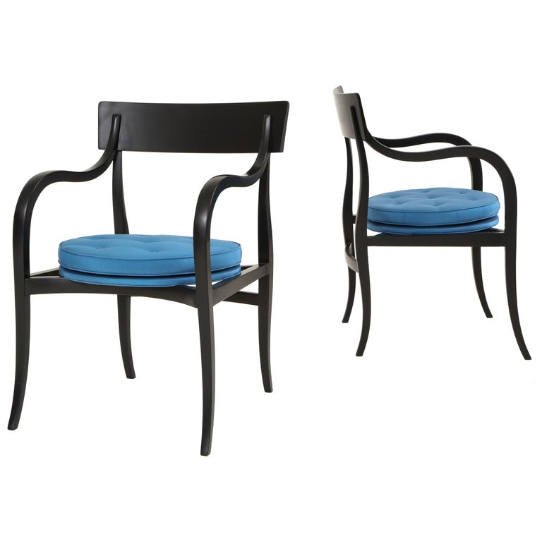 "Pair of Edward Wormley ""Alexandria"" Chairs for Dunbar For Sale"