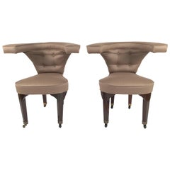 Pair of Edward Wormley Cock Fighting Chairs
