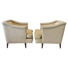 Pair of Edward Wormley Dunbar for Moderns Lounge Chairs as Found Originals