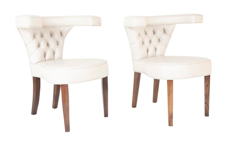 A pair of Edward Wormley armchairs for Dunbar.