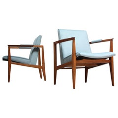 Pair of Edward Wormley for Dunbar Armchairs in Mahogany