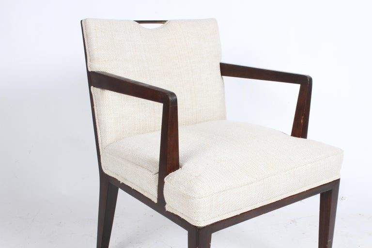 Pair of Edward Wormley for Dunbar Dining Chairs with Brass Handles  For Sale 5