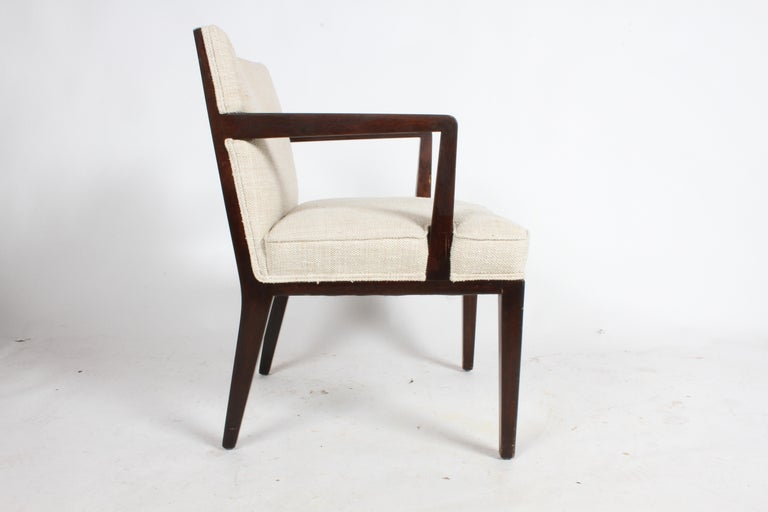 Pair of Edward Wormley for Dunbar Dining Chairs with Brass Handles  For Sale 7