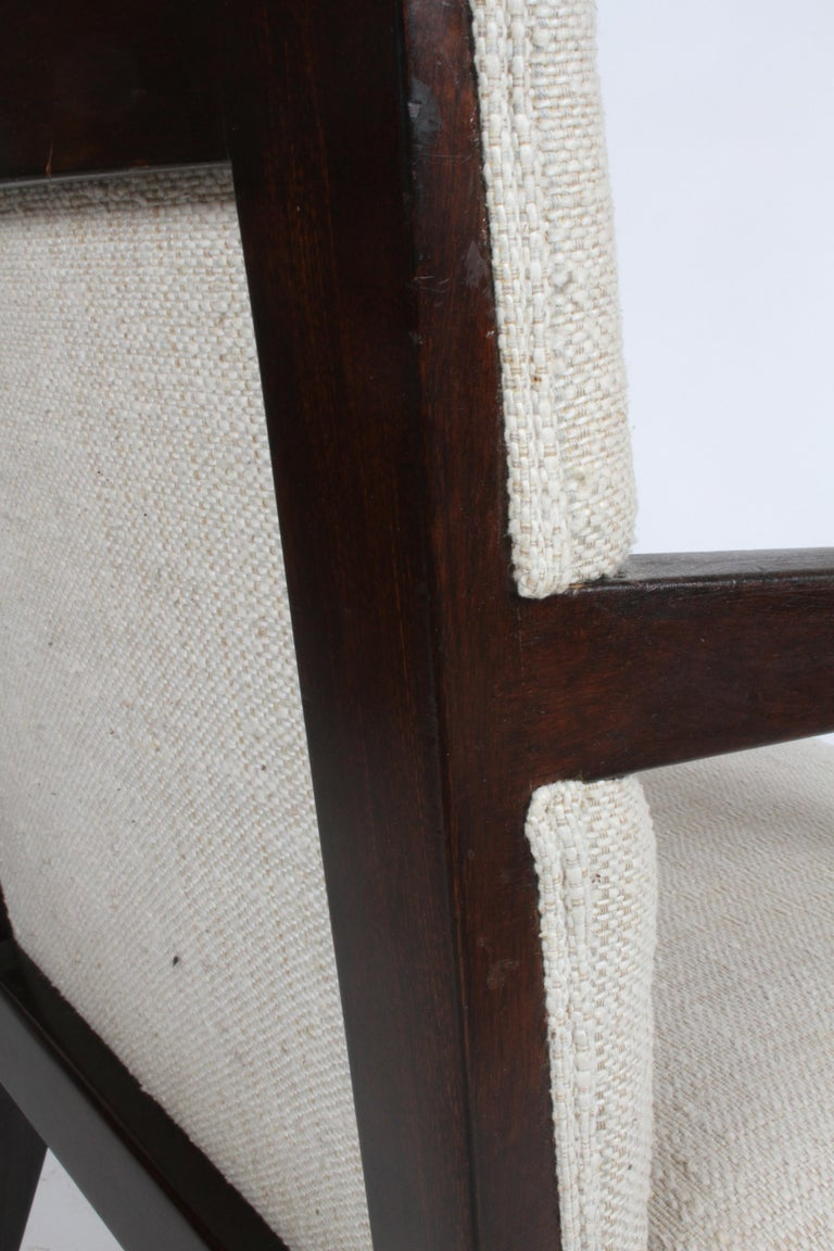 Pair of Edward Wormley for Dunbar Dining Chairs with Brass Handles  For Sale 9