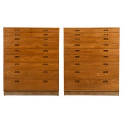 Pair of Edward Wormley for Dunbar His and Hers Dressers