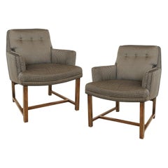 Pair of Edward Wormley for Dunbar Lounge Chairs, 1950's