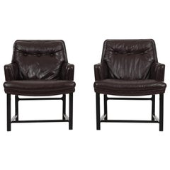 Pair of Edward Wormley for Dunbar Pull-Up Lounge Chairs