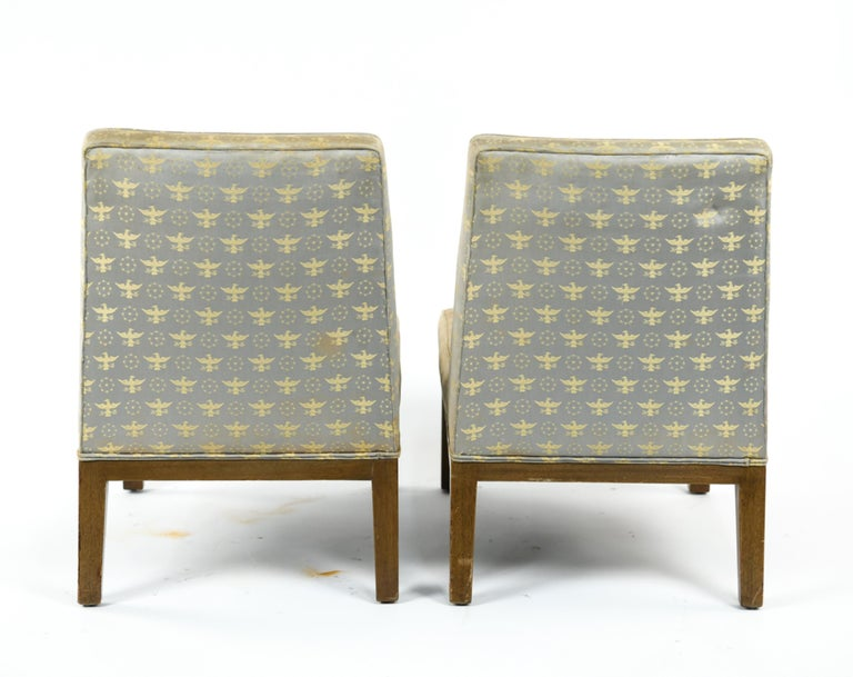 Pair of Edward Wormley for Dunbar Slipper Chairs For Sale 3