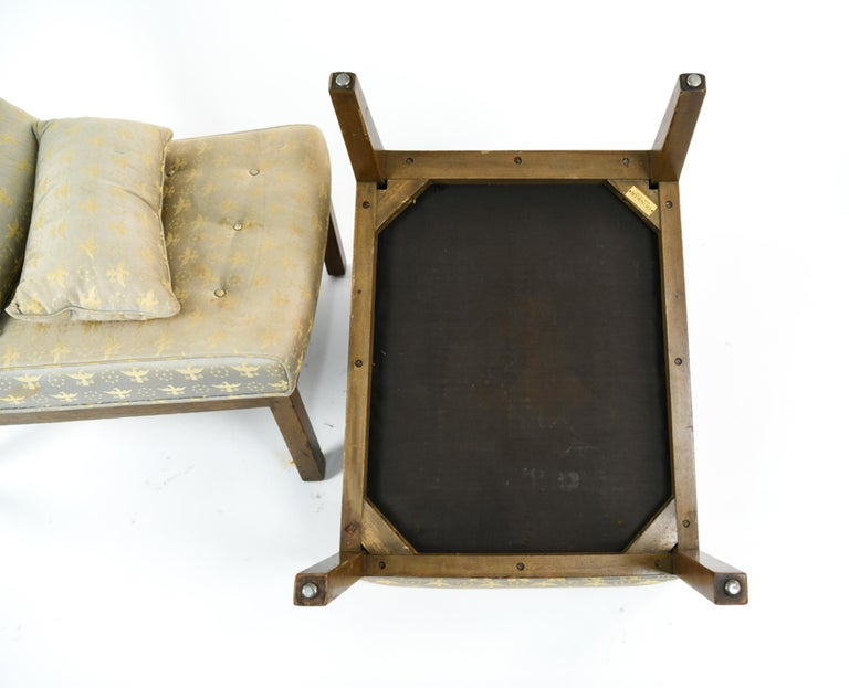 Pair of Edward Wormley for Dunbar Slipper Chairs For Sale 8