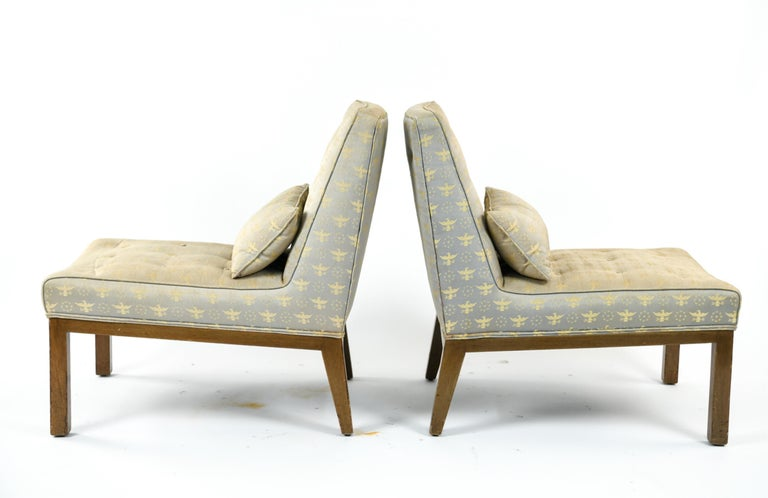 Pair of Edward Wormley for Dunbar Slipper Chairs For Sale 2