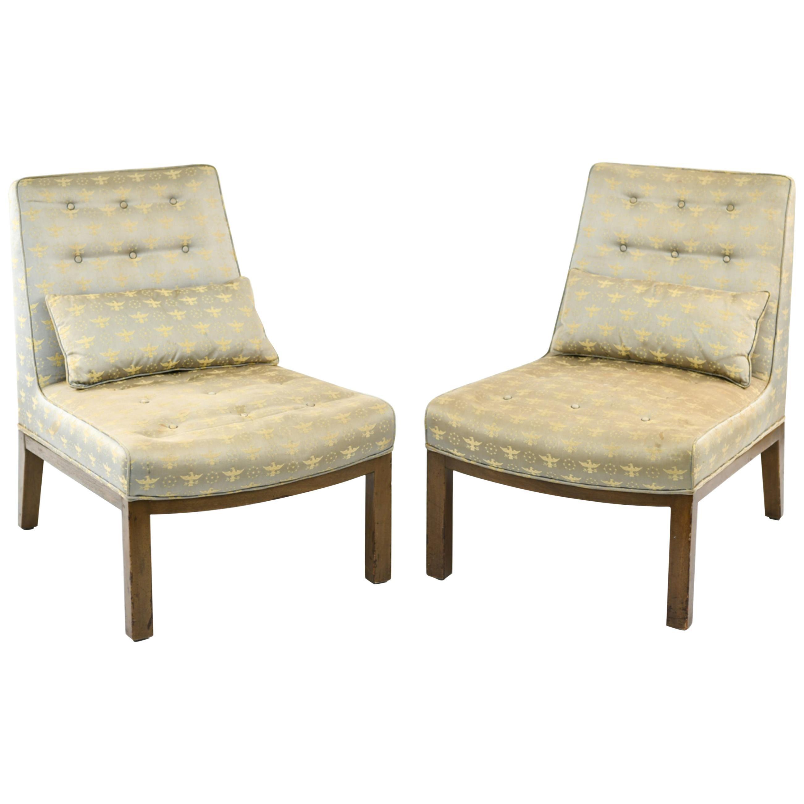 Pair of Edward Wormley for Dunbar Slipper Chairs