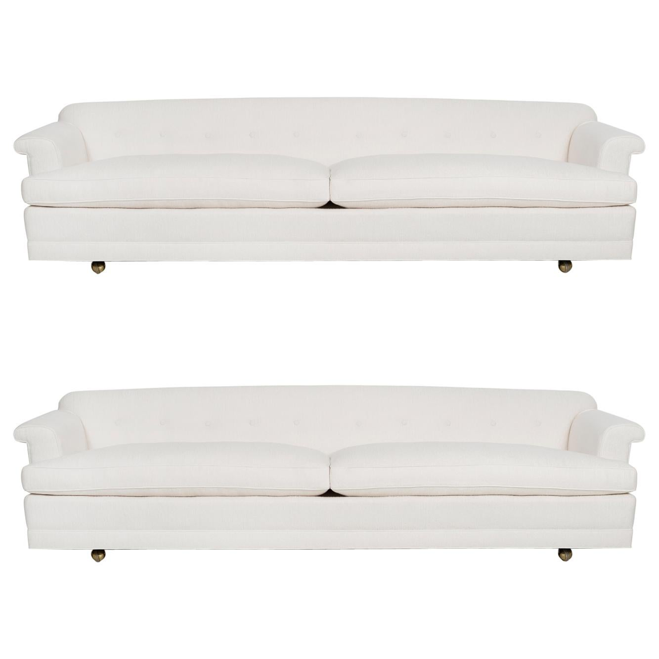 Pair of Edward Wormley for Dunbar Sofas