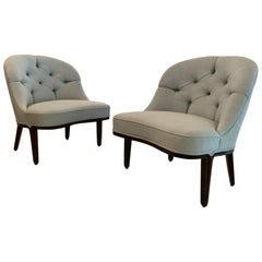 "Pair of Edward Wormley ""Janus"" Slipper Lounge Chairs for Dunbar"