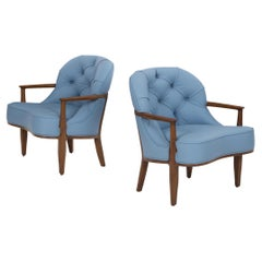 Pair of Edward Wormley Lounge Chairs for Dunbar Janus Collection