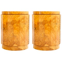 Pair of Edward Wormley Pedestal Storage Ends