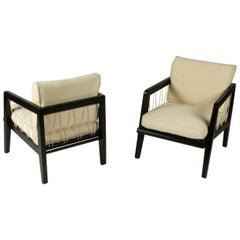 Pair of Edward Wormley Precedent Collection for Drexel Rope Lounge Chairs