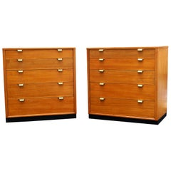 Pair of Edward Wormley Precedent Dresser Bachelor Chest of Drawers Dressers