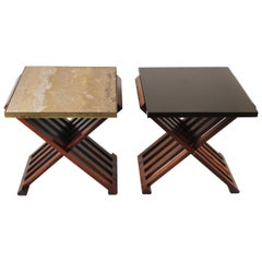 Pair of Edward Wormley Savonarola Occasional Tables for Dunbar Model 5425