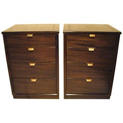 Pair of Edward Wormley Small Scale Chests for Drexel